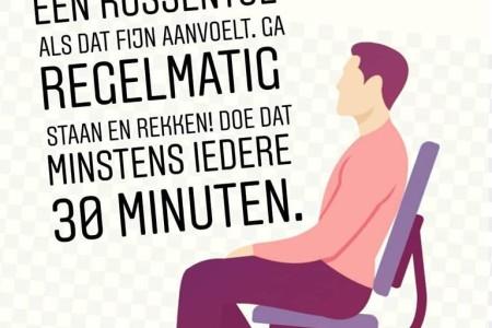 Geeft zitten rugpijn? Hier een aantal handige tips voor je!
